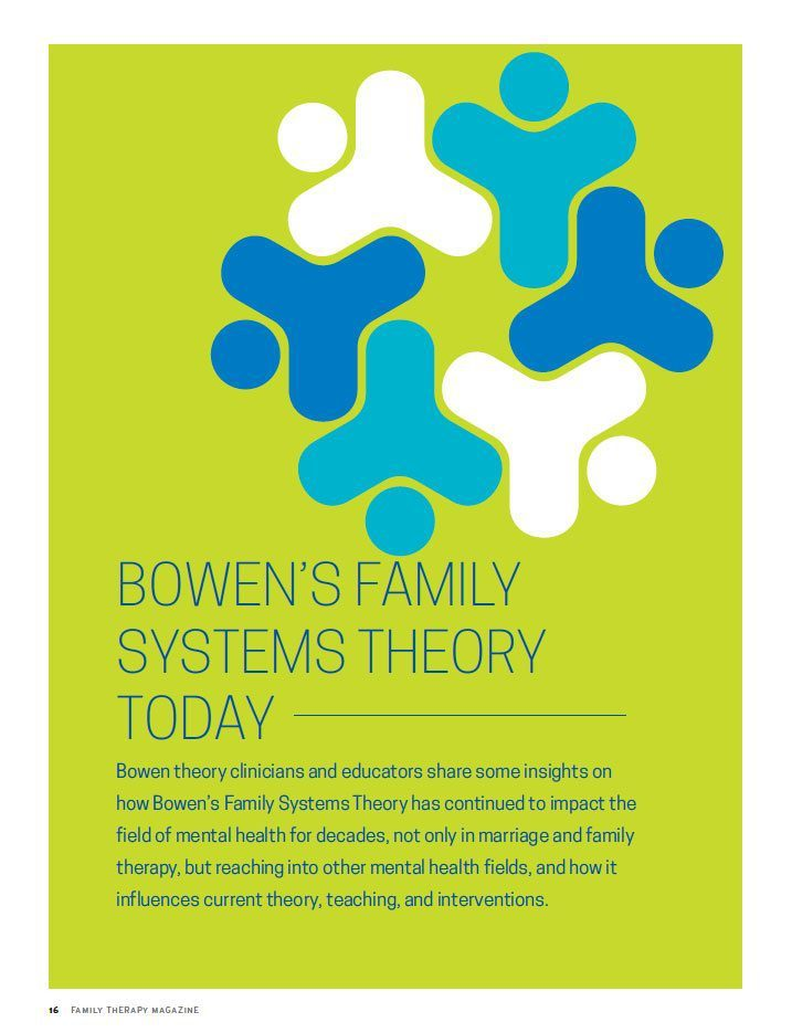bowen family systems Start studying bowen family systems therapy - chapter 5 learn vocabulary, terms, and more with flashcards, games, and other study tools.